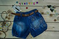 Джинсовые шорты для девочки 3-8  лет