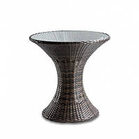 Плетеный круглый кофейный столик из ротанга искусственного DISCO