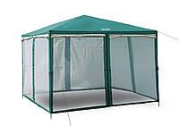Шатер палатка 2902 Green Camp тент со стенками и москитной сеткой для отдыха, садовый