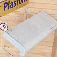 Подоконник Plastolit серый мрамор глянец