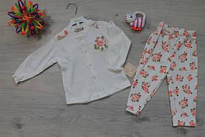 Костюм для девочки с цветочным принтом тм Flexi Турция р. 12м