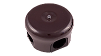 Ретро распаячная коробка керамическая коричневая78 Bironi