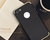 Чехол-накладка iPaky (OR) Carbon TPU + Bumper for iPhone 7 Gold, фото 1