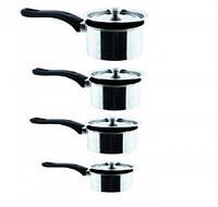 Ковшики с крышками набор 4шт, кухонная посуда