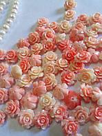 Розы искусственный коралл 13мм