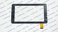 """Тачскрин (сенсорное стекло) для kingvina 135, 7"""",  внешний размер 186*106 мм, рабочий размер 155*86 мм, черный"""