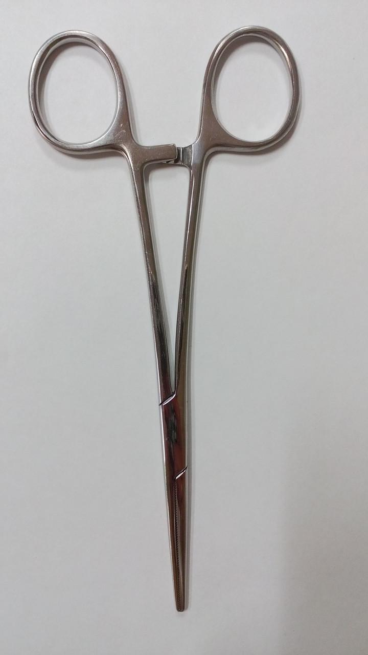 Затискач кровоспинний зубчатий, прямий, 160мм З-92