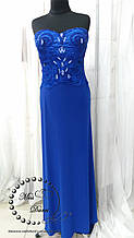 Вечернее платье синее длинное