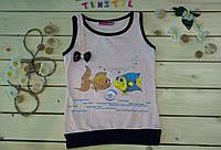 Модная футболка на девочку рост 80-116
