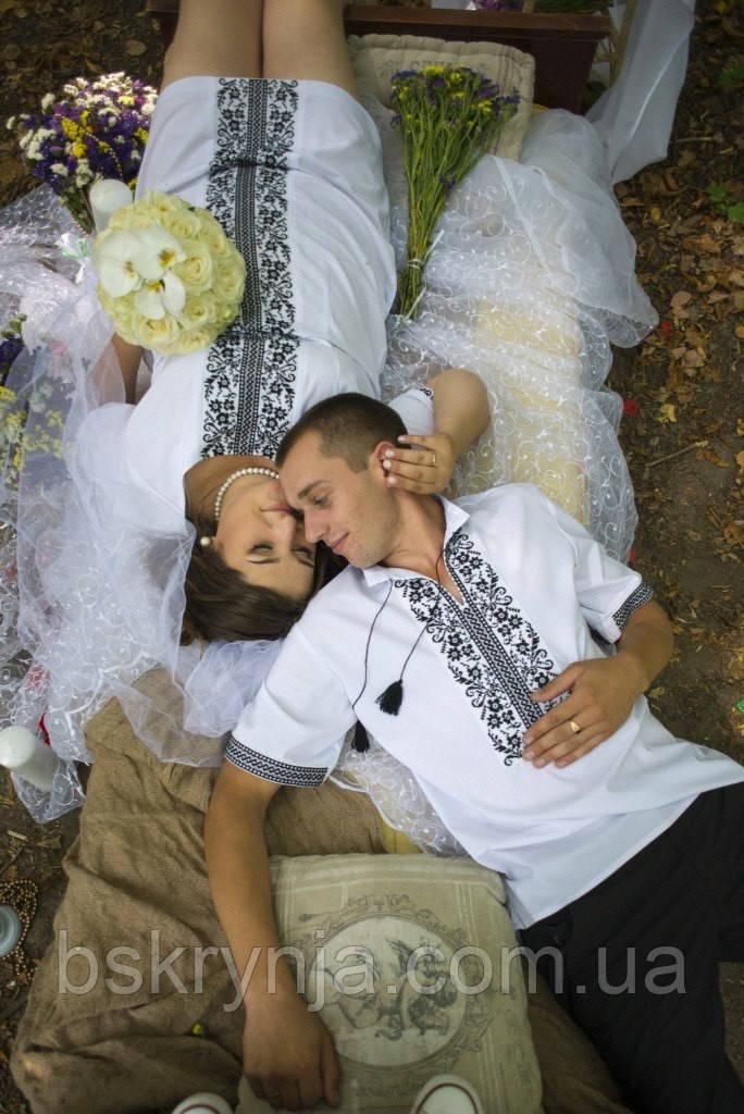 Парні вишиванки.Жіноча сукня + сорочка чоловіча МВ-65п - Інтернет магазин