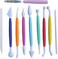 8633 Набор ножиков (стеков) для мастики 10пред., кондитерские принадлежности