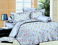 """Ткань для постельного белья Поплин набивной """"Leone"""" L-Blue (60м)"""