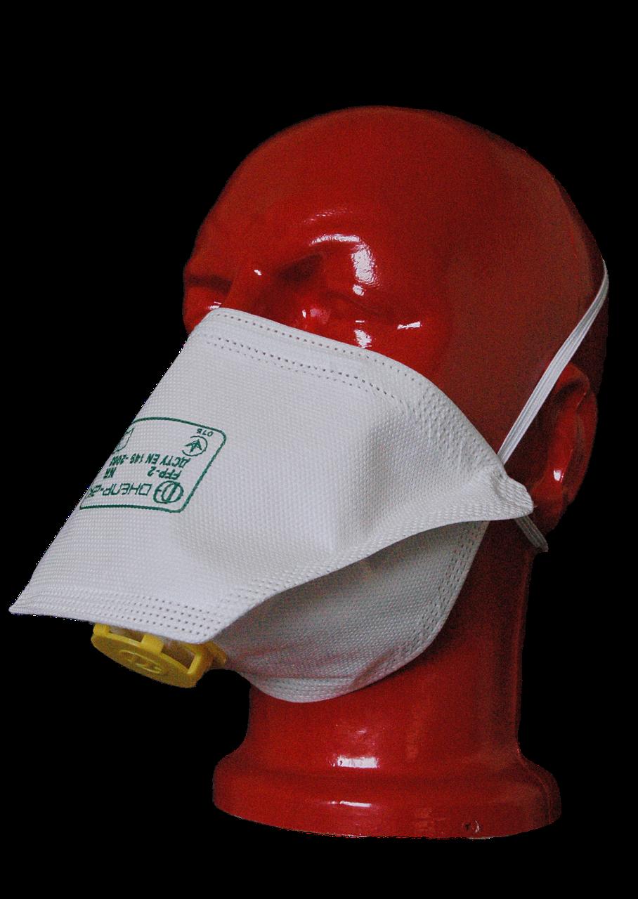 Маска-респиратор Днепр-2К FFP2  - Снабжение средствами защиты Трайдент - рабочие перчатки, одноразовая одежда  в Черкассах