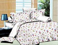 """Ткань для постельного белья Поплин набивной """"Leone"""" L-White (60м)"""