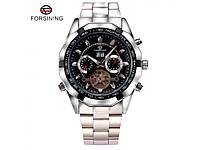 Механические часы Forsining Texas с автоподзаводом и мультифункцией. Отличное качество. Доступно. Код: КГ957