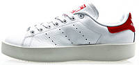 Женские кроссовки Adidas Stan Smith Bold White/Red