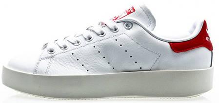 meet f6cd2 6381e Женские кроссовки Adidas Stan Smith Bold White/Red