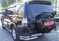 Двойные защитные углы заднего бампера Mitsubishi Pajero