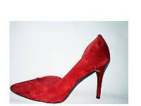 Женские вечерние туфли красного цвета
