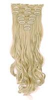 Трессы волнистые набор блонд 60см 150г №613 накладные пряди
