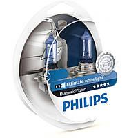 Лампа галогенная Philips H11 Diamond Vision, 5000K, 2шт/блистер 12362DVS2