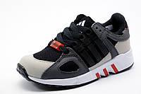 Кроссовки детские унисекс Adidas Equipment Running Support, черные с серым, р. 31 33 34 36
