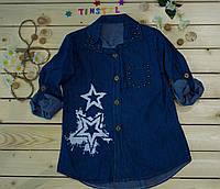 Модная рубашка на девочку 4-12 лет