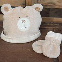 Шапка для новорожденных, варежки-царапки, Hug Me