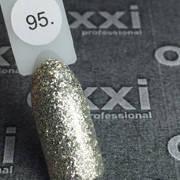 Гель лак Oxxi №095(насыщенные серебристые блестки),8 мл
