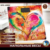 Весы напольные электронные 180 кг (HEART) DEFIANT DFS-180H