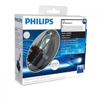 Лампы светодиодные Philips LED Fog H8/H11/H16, 6000K, 2шт 12834UNIX2, фото 2