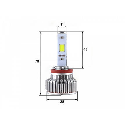 Лампы светодиодные Sho-Me H11 6000K 30W LED G2.1 (2 шт), фото 2