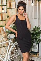 Платье майка женское ткань трикотаж цвет черный