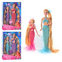 Куклы Русалки сестры гребешок и заколки 8235