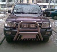 Защита передняя Toyota Land Cruiser 100, с двойным грилем