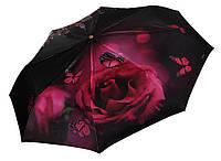 Женский зонт Три Слона САТИН ручка кожа ( полный автомат ) арт.145-42