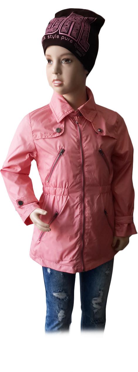 Куртка ветровка демисезонная Verscon для девочки розовая размер 92