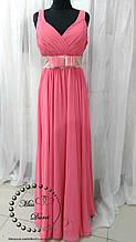 Вечернее платье длинное коралловое размер 48-52