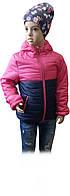 Куртка ветровка демисезонная с капюшоном ТМ Grace для девочки розовая размер 116 140