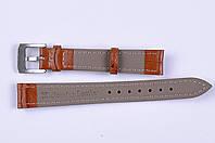 Кожаный ремешок для часов светло коричневый, 14мм