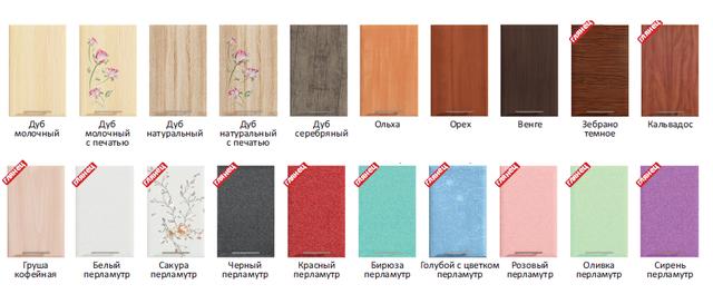 кольора фасадів кухні Хайтек