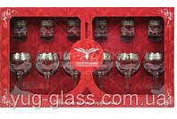 """Набор 12 предметный GE05-411/837 рисунок """"Мускат"""" (бокалы 260 мл для вина и стопки 50 мл) ."""