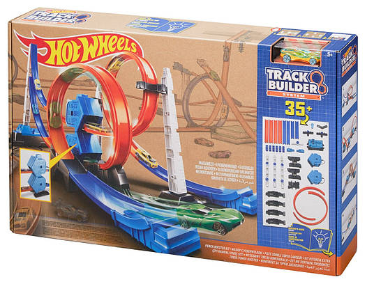 Hot Wheels Набор усилитель мощности серии Соедини все трэки Track Builder System Power Booster Kit