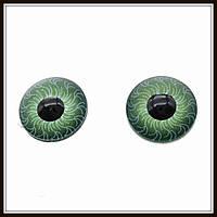 Глазки для кукол зеленые (диам. 12 мм)