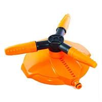 Вертушка ороситель Ястреб для полива тройной на подставке Presto Orange 8113