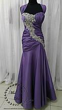 Вечернее платье силуэта русалка сиреневое