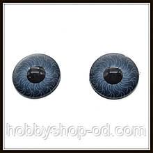 Очі для ляльок сірі (діам. 12 мм)