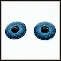 Глазки для кукол голубые (диам. 12 мм)