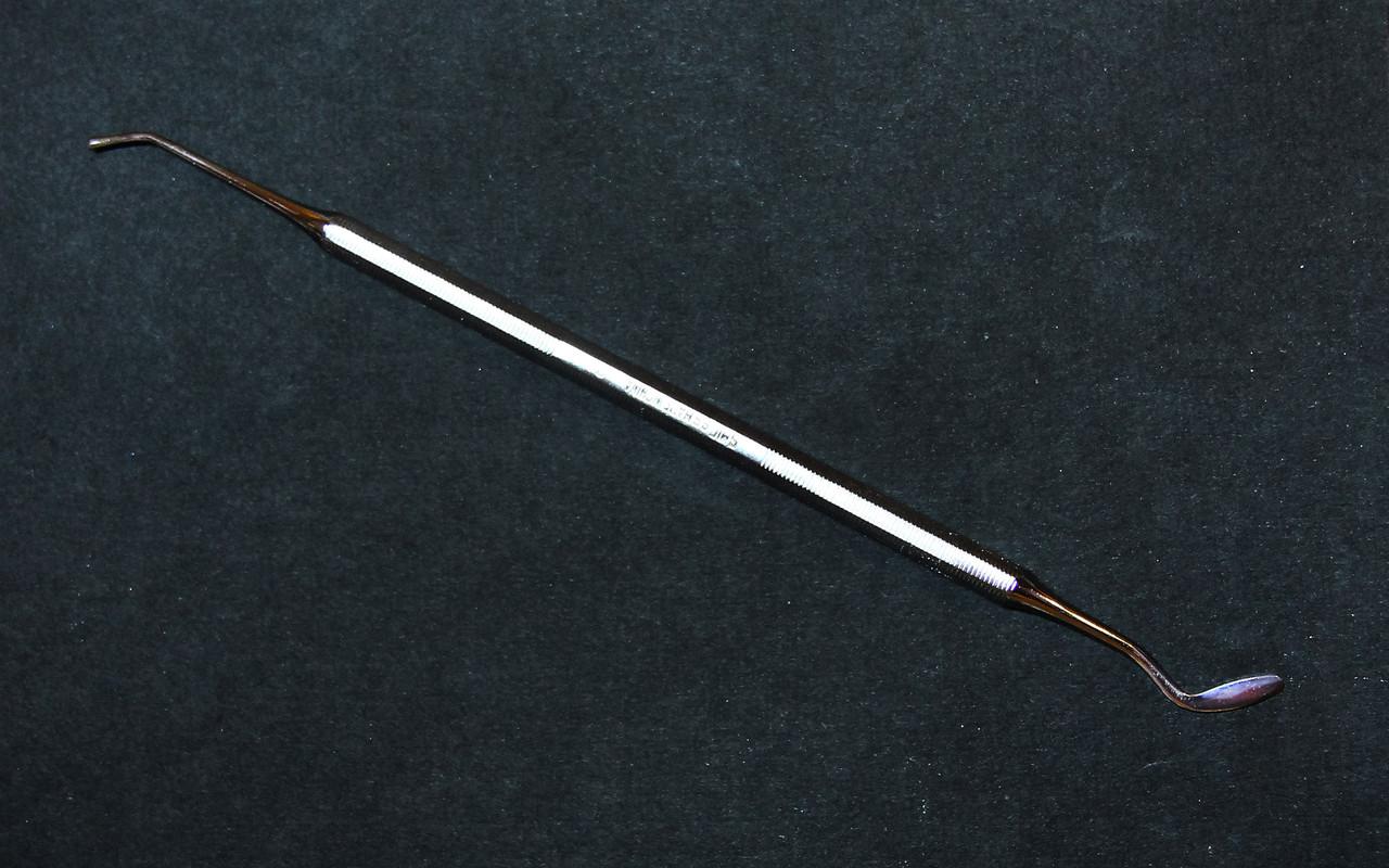 Инструмент нержавеющая сталь для тонкой лепки, 2-сторонний, экскаватор-дотс