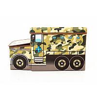 Детский пуф Автобус военный, в пакете